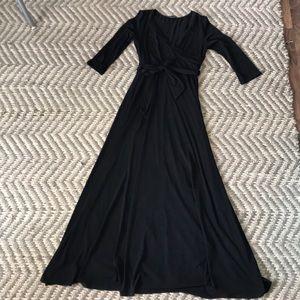 Black wrap maxi
